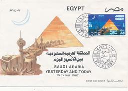 EGYPT / ÄGYPTEN  - CAIRO  , 1987 - Airmail