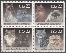 USA 1988, FAUNA, DOMESTIC CATS, COMPLETE, MNH SET, GOOD QUALITY, *** - United States