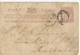 VICTORIA STATIONERY 1898 - 1850-1912 Victoria