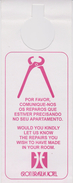 Do Not Disturb Sign From Eron Brasilia Hotel - Brazil - Etiketten Van Hotels