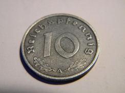 ALLEMAGNE - 10 REICHSPFENNIG 1940.A.