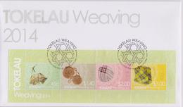 Tokelau FDC Mi Block 53 Handwork - Weaving - Taulima - Pupu - Tapili - Ato - 2014 - Tokelau