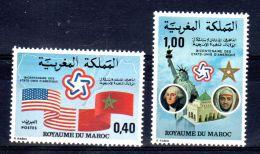 1976 , Bicentenaire De L'Indépendance Des Etats-Unis, YT 763 + 764, Neuf **, Lot 46976 - Marocco (1956-...)