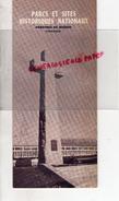 CANADA - DEPLIANT TOURISTIQUE  PARCS ET SITES HISTORIQUES NATIONAUX-QUEBEC-1945-FORT CHAMBLY-LENNOX-GASPE - Dépliants Touristiques