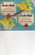 CANADA - DEPLIANT TOURISTIQUE -SOURCE DE RENSEIGNEMENTS -CANADIAN PACIFIC-SERVICE ETE 1950- EMPRESS PAQUEBOT - Dépliants Touristiques