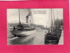 """44 LOIRE ATLANTIQUE, LE POULIGUEN, Départ De L' """"Emile-Solacroup"""" Pour Belle-Ile-en-Mer, Animée, (Artaud-Nozais) - Le Pouliguen"""
