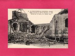 85 VENDEE, ST-CHRISTOPHE-DU-LIGNERON, Eglise Construite Pa Mme De Mauclerc, Détruite Par La Foudre, Animée - Francia