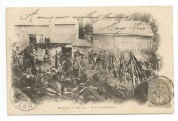 CPA MANŒUVRES DE L'EST 1901 - N. 2 LA GRAND'HALTE - Manoeuvres