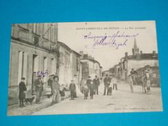 """33 ) Saint-christoly-de Médoc - La Rue Principale  """" Attelage """"  - Année 1908  EDIT - Dando - France"""