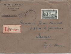 Rercommandé De Casablanca Par Avion, Pour Yssoire En 1926 - Morocco (1891-1956)