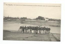 L'EGUILLE - Une Batterie Du 14e D'Artillerie De Forteresse Se Rendant à Rochefort,après Avoir Traversé La Seudre . Cpa - Manoeuvres