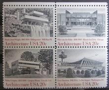 Etats-Unis - Timbres Neufs ** Architecture - Bloc De 4 - Etats-Unis