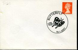 16964 England  Special Postmark  2001   Butterfly,  Papillon, Schmetterlinge - Schmetterlinge