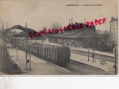 01 -  AMBERIEU - INTERIEUR DE LA GARE - Divonne Les Bains
