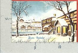 CARTOLINA VG ITALIA - BUON NATALE - Paesaggio Innevato Naif - GM MILANO - 9 X 14 - ANN. 1961 - Natale