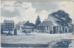 28183g  GRAND'PLACE - FONTAINE - LAVANDIERE - CHARRETTE A CHEVAL - Xhoris - 1909 - Ferrieres