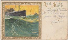 28194g  RED STAR LINE ANTWERPEN - NEW YORK - 1902 - Antwerpen