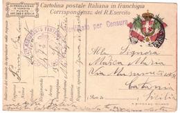 STORIA POSTALE - ITALIA - ANNO 1917 - POSTA MILITARE  - VERIFICATO PER CENSURA - 147° REGGIMENTO FANTERIA - COMANDO - - Military Mail (PM)