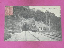 POITIERS /  1910  /  VIVONNE   TRAIN VAPEUR SORTIE DU TUNNEL  DES BACHIES  EDIT   CIRC - Poitiers