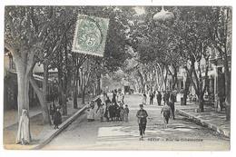 Cpa: ALGERIE - SETIF - Rue De Constantine (Bien Animée) 1907  N° 34 - Sétif