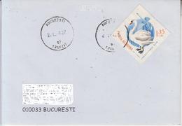ROMANIA : BIRDS SWAN On Cover Circulated In ROMANIA