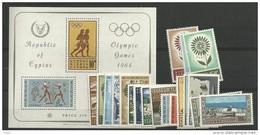 1964 MNH Cyprus, Year Collection, Postfris ** - Zypern (Republik)
