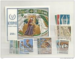 1969 MNH Cyprus, Year Complete, Postfris - Zypern (Republik)