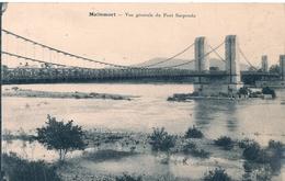 Cpa 13 Mallemort Vue Générale Du Pont Suspendu - Mallemort