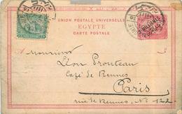 EGYPTE - Entier Postal Daté De 1894. - 1866-1914 Khedivate Of Egypt
