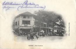 Viet-Nam - Saïgon (Ho-Chi-Minh-Ville) - Rue D'Andran Au Début Du Siècle - Carte Précurseur - Viêt-Nam