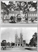 Viet-Nam - Old Saïgon (Ho-Chi-Minh-Ville) - Lot De 10 Reproductions Dans Leur Pochette (Théatre, Poste, Jardins...) - Vietnam