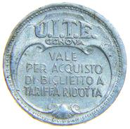 [NC] ITALIA - GETTONE TOKEN TRASPORTO GENOVA 1944 - Professionali/Di Società