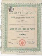 Action Compagnie Industrielle Des Alcools De L'ardeche - Agriculture