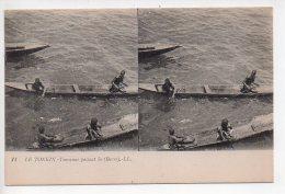 REF 265  : CPA LE TONKIN Touranne Passant La Barre - Cartes Postales