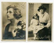2 Postcards GLADYS COOPER - Cinema Actress  ( 2 Scans ) - Actores