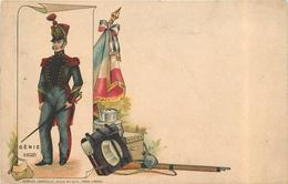 GENIE 1825 - Uniforme Carte Illustrée 1900. - Uniformes