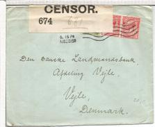 REINO UNIDO 1915 CC A DINAMARCA CENSURA - Storia Postale