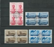Italie Tripolitaine  -  Yvert N° 130 ,  131 , 132 , 133 ,  Oblitéré En Bloc De 4 ( Cote + De 350 Euros )   Cw 156 - Tripolitaine