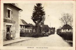 38 CHIMILIN - Un Coin Des Ternes - Animée - Café Epicerie RIVOIRE - Voiture - France