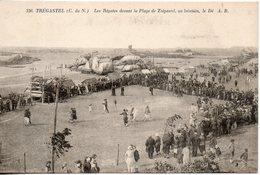 22. Tregastel. Les Regates Devant La Plage De Tregastel, Au Lointain, Le Dé - Trégastel
