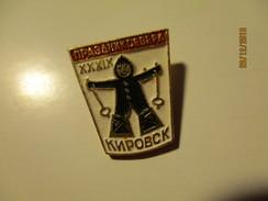RUSSIA USSR KIROVSK NORTH GAMES  SKIING PIN BADGE , O - Sport Invernali