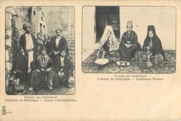 BETHLEHEM MULTIVUES HABITANTS GROUP OF BEHTLEHEMITES FEMMES BETHLEMEN WOMEN TYPES ASIE - Postcards