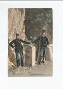 MENTON 28 BORNE FRONTIERE (DOUANIERS FRANCO ITALIEN) 1918 - Douane