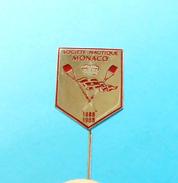 MONACO ROWING FEDERATION 1888-1988. Rare Jubilee 100. ANNIVERSARY Pin Badge Aviron Rudersport Rudern Ruder Canottaggio - Aviron