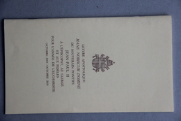 Lettre Apostolique De Jean-Paul II à L'épiscopat, Au Clergé Et Aux Fidèles, Année De L'Eucharistie Oct.2004-oct.2005 - Andere