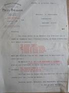 Lettre Paul BELUZE Roanne Quai Bassin 1924 BOSTNAVARON Chambilly Par Marcigny Essence Huile Pétrole - France