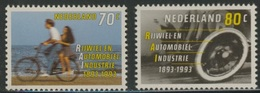 Nederland Netherlands Pays Bas 1993 Mi 1460 /1 YT 1424 /5 Sc 1544 /5 ** Cycling / Fahrrad / Bicyclette + Auto - RAI - Transportmiddelen