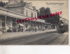 77 - FONTAINEBLEAU AVON - INTERIEUR DE LA GARE   LES QUAIS -1918 - Fontainebleau