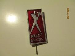 RUSSIA USSR AMATEUR MOVIE CAMERAMAN, PIN BADGE , O - Kino