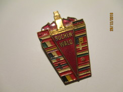 GERMANY JUDAICA BUCHENWALD CONCENTRATION CAMP KZ FLAGS , PIN BADGE , O - Pin's